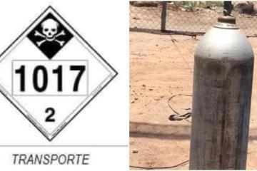 Roban dos tanques de gases tóxicos en Mexicali