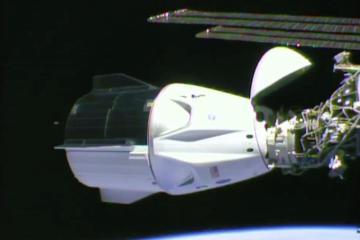 Después de 19 horas de su despegue SpaceX llega a la Estación...