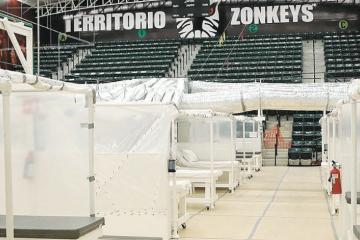 Auditorio Zonkeys es habilitado como hospital