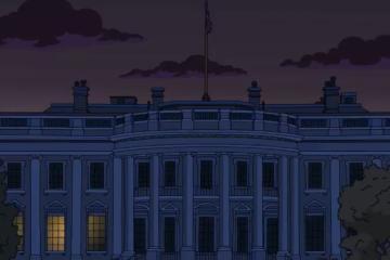 ¿Los Simpson predijeron la Casa Blanca sin luz?