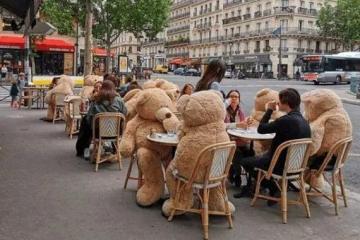 Osos de peluche gigantes invaden París