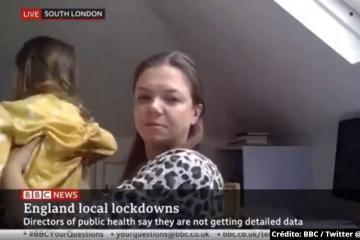 Niña interrumpe a su madre durante una entrevista en vivo para BBC