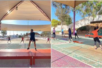 Ensenada retoma actividades de gimnasio al aire libre