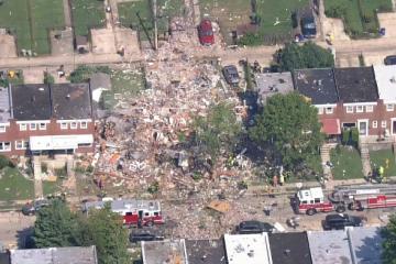 Fuerte explosión en Baltimore destruye varias residencias y deja...