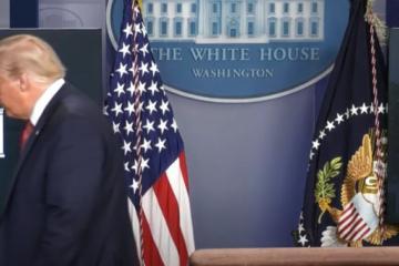 Trump sale de conferencia de prensa por tiroteo en la Casa Blanca