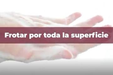 Secretaría de Salud comparte el correcto lavado de manos