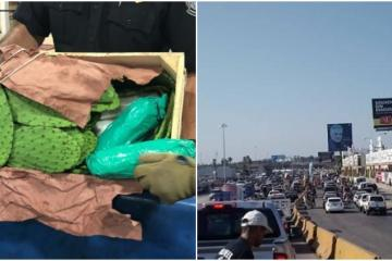 Arrested for attempting to cross methamphetamine between nopales at...