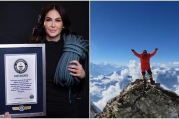 Mexicana rompe récord Guinness tras escalar las montañas más...