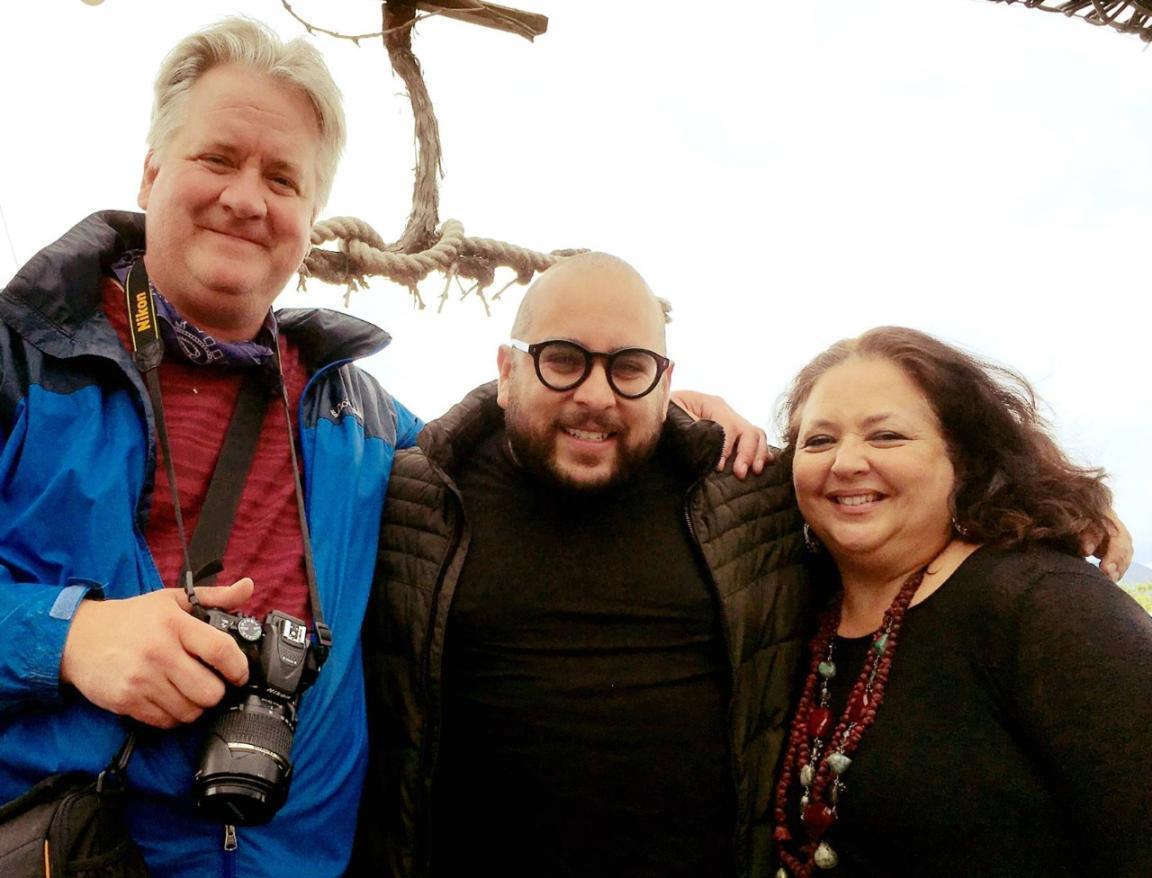 Author with chef Diego Hernandez and wife Ursula. Photo: W. Scott Koenig