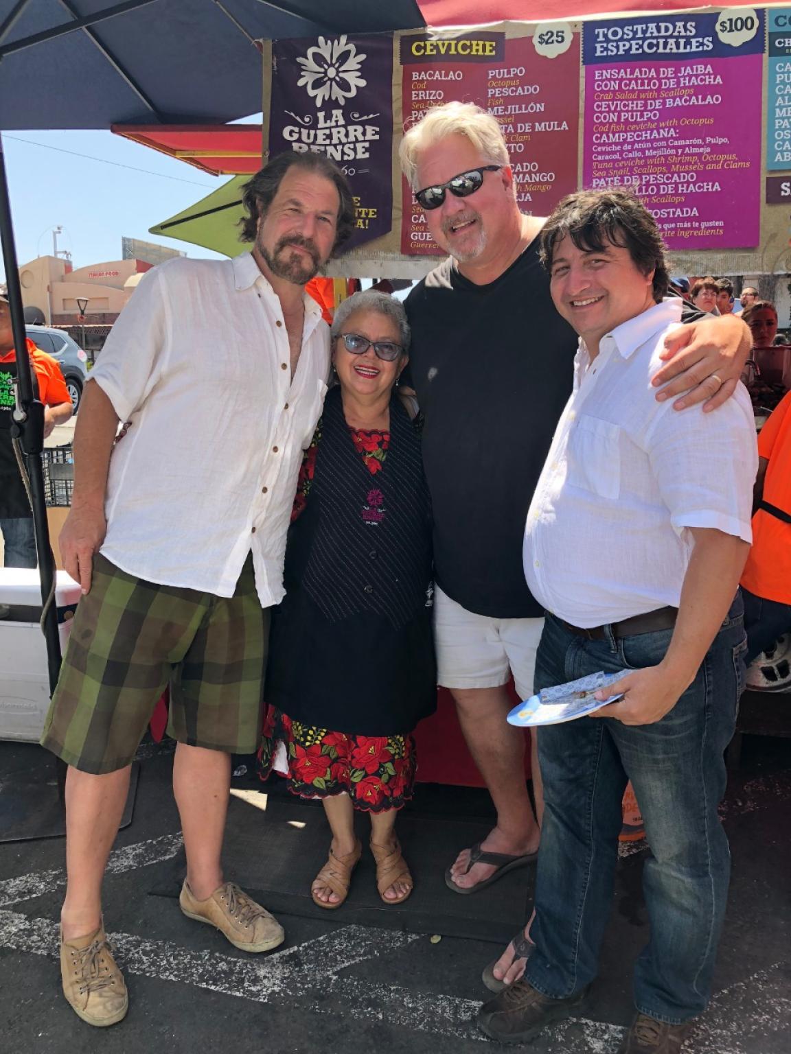 At La Guerrerense with Nicholas Gilman, Sabina Bandera and Francisco Perez. Photo: W. Scott Koenig