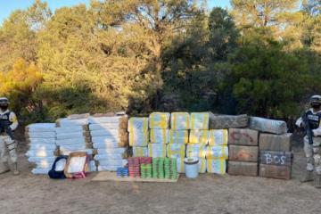Military seizes Narcotics in La Rumorosa-Tecate
