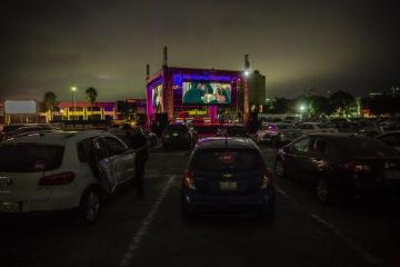 Joy Park, the new drive-in cinema opens to the public in Zona Rio