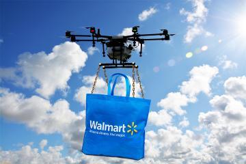 Walmart inicia pruebas de entrega a domicilio con drones