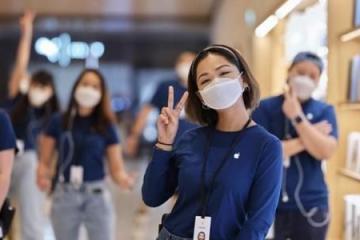 Apple Face Mask: El cubrebocas diseñado para los empleados de esta...