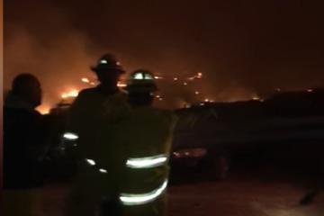 Brigada de última hora por incendios en Rosarito (zona Primo Tapia...