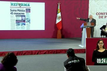AMLO se ríe de las 45 masacres ocurridas en México en 2020