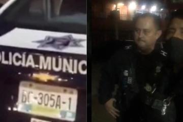 Policías de Tijuana golpean a madre e hijo