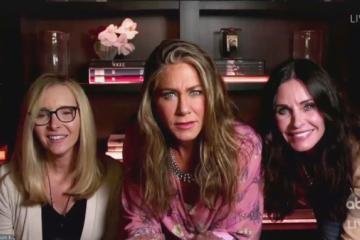 Las actrices de FRIENDS en los Emmys 2020