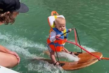 Rich Humpherys el esquiador acuático más joven del mundo