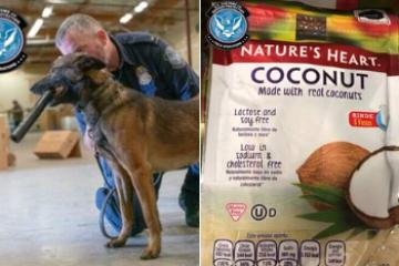 """They want to fool us, but not K9 Brunos nose"" CBP"