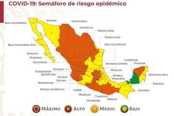 Baja California baja en el Semáforo epidemiológico a nivel medio