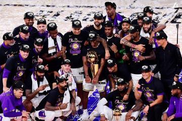 Los Lakers se coronan campeones en la NBA