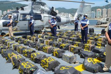 Armada de México aseguró 2 toneladas de cocaína en altamar