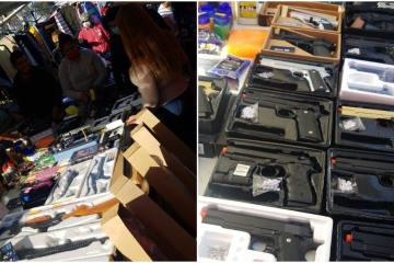 Swap meet stand in Rosarito sold BB guns