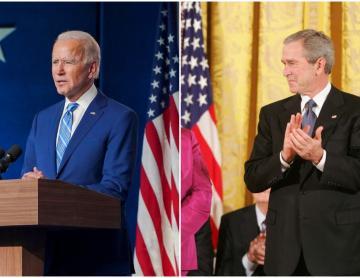 """""""Es un buen hombre"""": George W. Bush felicita a Biden"""