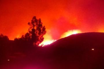 Se registra fuerte incendio en Valle de las Palmas por vientos...