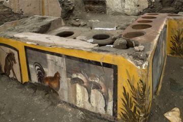 Un antiguo restaurante es descubierto en los restos de Pompeya