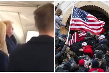 Donald Trump organizó fiesta para ver el motín al Capitolio