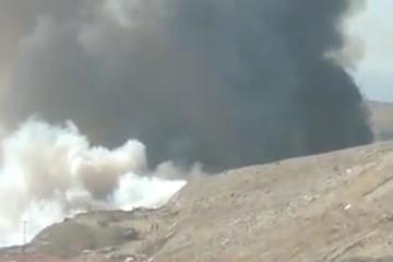 Fuerte incendio en Loma Bonita