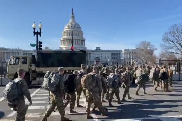 Guardia Nacional llega al Capitolio para investidura de Biden