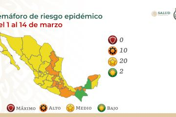Baja California turns to the yellow epidemiological traffic light