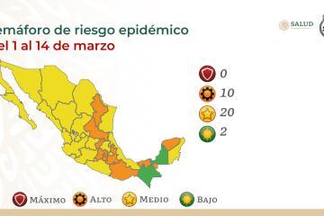 Baja California pasa a semáforo amarillo epidemiológico