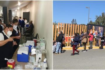 Cierran punto de vacunación en Tecate debido a asistencia de...
