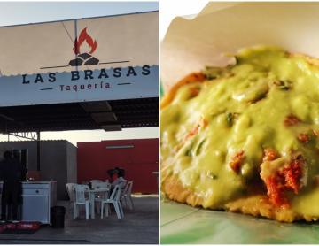 Taco de adobada from Las Brasas in Tijuana, good enough to take...