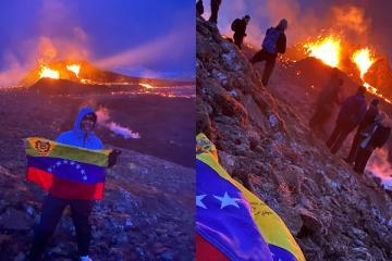 El volcán Geldingadalir se ha convertido en un lugar turístico y...
