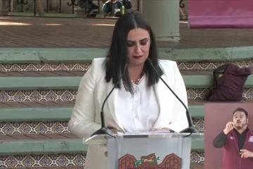 Alcaldesa de Tijuana Karla Ruiz Macfarland presenta informe de logros
