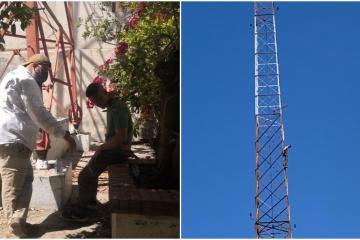 Salvan a extranjero de suicidarse de una torre de radiofrecuencia...