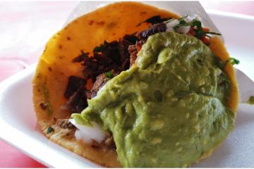 Check out the asada taco in Tijuana that fits in the palm of your...