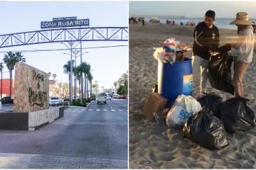 Rosaritenses sufren los estragos de la basura generada por turismo