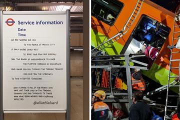 Metro de Londres se solidariza con México tras el desplome de la...