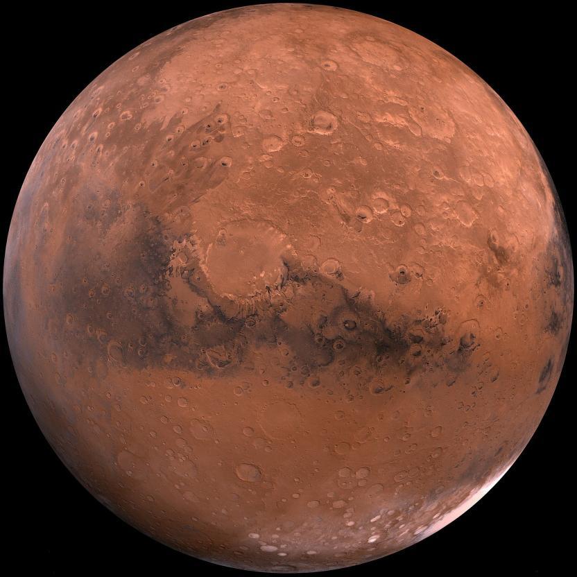 Foto de Marte por WikiImages en Pixabay