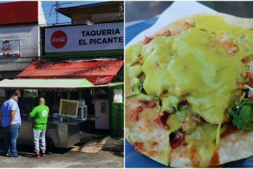 Taquería en Tijuana se luce con mega tacos