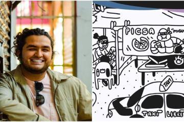 Artista ilustra a Tijuana en tiempos de pandemia