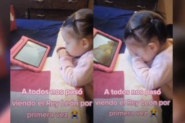 VIDEO: Niña llora al ver ''El Rey León'' por primera vez