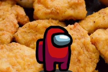 Venden nugget de pollo con forma de Among Us en 100 mil dólares