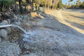 The lake at Morelos Park is refilled after rehabilitation works